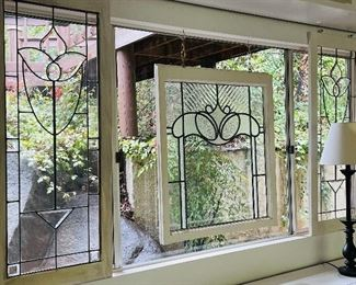"Side leaded glass panels are 19-3/4""w 48-1/2""h"