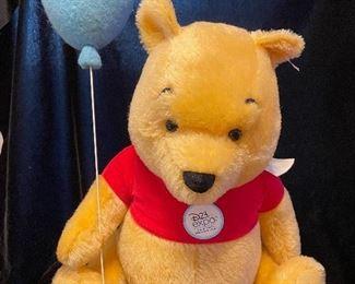 "$2200.00 Winnie the Pooh w/ music box that sings Winnie the Pooh EAN 683343 16.5"" Mohair  LE 22/23 With box and COA"