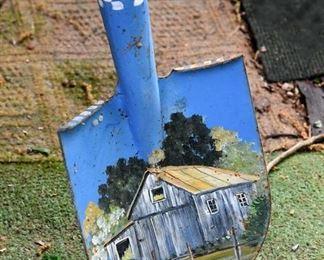 decorative, painted garden tools (shovel)