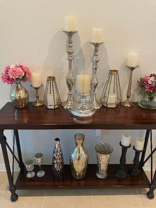 Pottery barn, west elm and other vases and candle holders.. ranging from $10-80