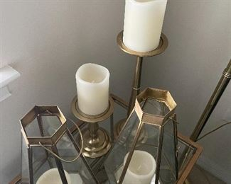 Pottery barn and west elm candle holders $25 each, table $125