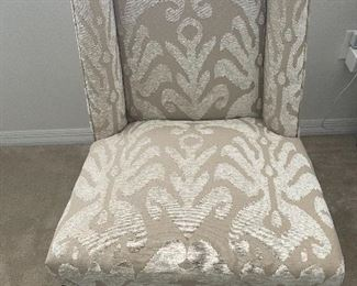 Upholstered adjustable height swivel chair $100
