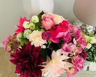 Silk faux flower arrangement $50
