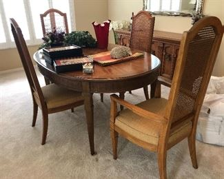 Drexel Heritage Dining table, leaves and chairs