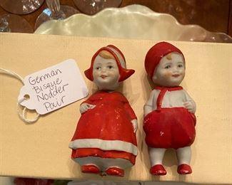 vintage German Nodder bisque dolls