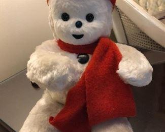 vintage Knickerbocker Toys, NY musical plush snowman