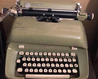 Green Royal typewriter