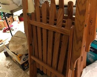 Vintage folding Adirondack chairs