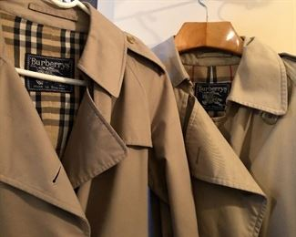 His and hers Burberry Trench coats