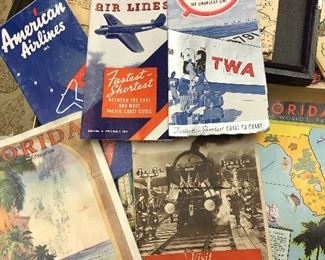 Just found a whole box of 1933 1934 Century of Progress paper brochures - everything from Airline routes to Sinclair Oil to railroads to home economics, tickets packets, menus, state exhibits, etc. all in great condition!