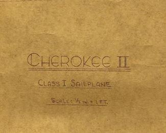 1950s Cherokee II Sail Plane drawings & blueprints