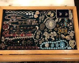 antique & vintage costume jewelry including Weiss, Kramer, Bogoff