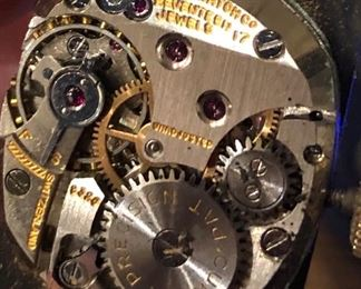 men's Gruen 14K 17j watch details