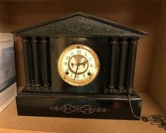 antique clock - will update maker