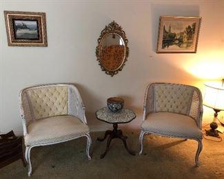 vintage cane barrel chairs