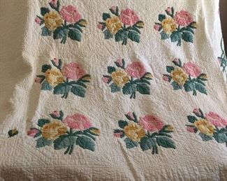 antique quilt for projects or repair