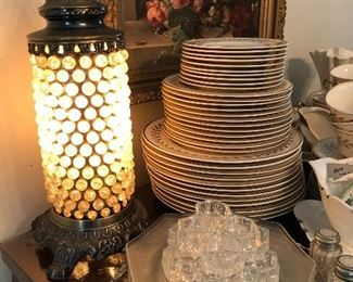 cool vintage glass marble lamp