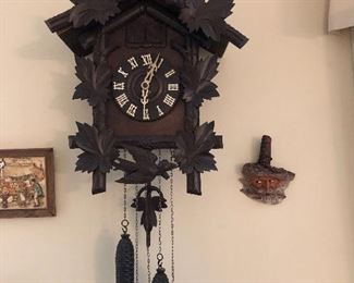 1950s German Cuckoo clock - needs some work, but it does chime if you move the hands