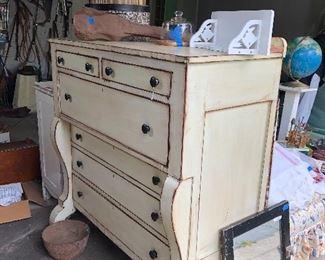 vintage repainted dresser