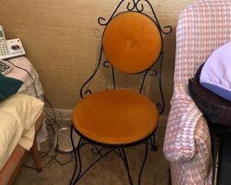 cute vintage metal chair