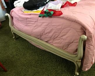 vintage Drexel Touraine French Provincial full bed frame