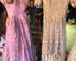 vintage 1950s lace dresses