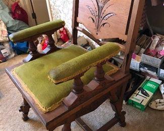 vintage carved armchair
