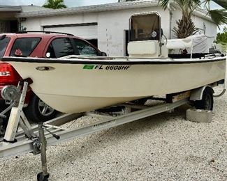 """1994 17'2"""" with Outboard - Mercury 75 and a Bimini Top + Trailer"""