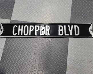 chopper blvd sign
