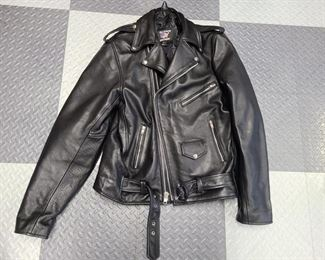 allstate leather biker jacket