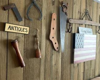 antique tools, american flag art