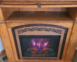 Electric Fireplace with changing color flames 41X42X28