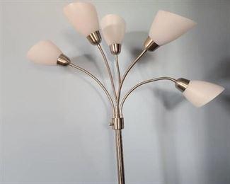 Floor lamp brushed nickel color