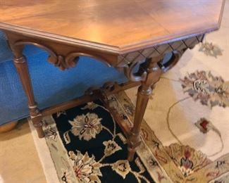 antique half side table