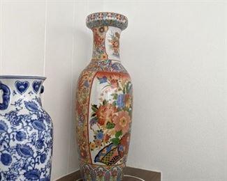Blue Vase Reproduction $15.00 , Vase with floral design $15.00