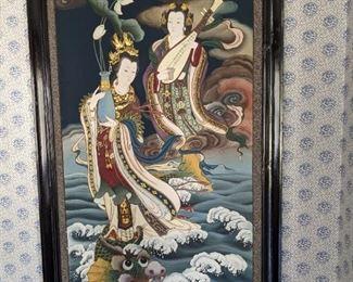 Riding The Dragon Art Work Kwan Yin Design $400