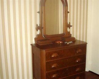 Matching antique Victorian dresser.