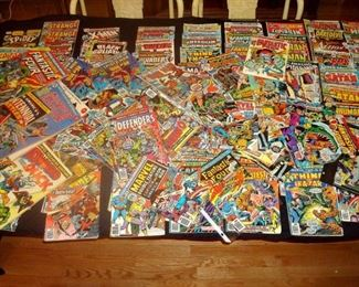Over 180 comic books from the 1970's, most in very good to fine condition, includes some large limited edition comics.