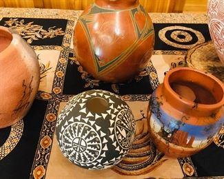 we have Acoma seed pots and Santa Clara pots