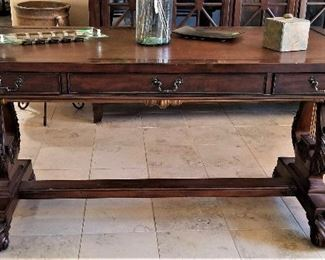 Beautiful desk. console, table, library table, so many way to use this beautiful piece of furniture