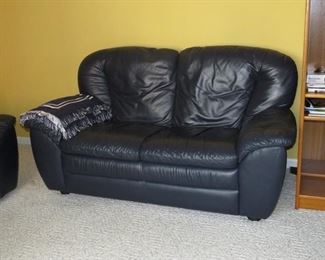 $175.00, Navy Blue Italian love seat VG condition