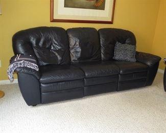 $250.00, Navy Blue Italian Sofa VG condition