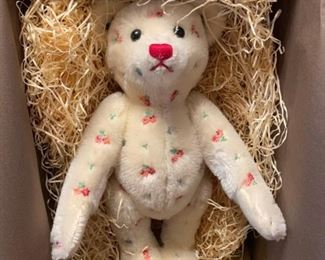 "$2000.00 VERY Rare LOTTERY BEAR ""FLOWERS"" 12"" Mohair LE 122/500 with box & book"