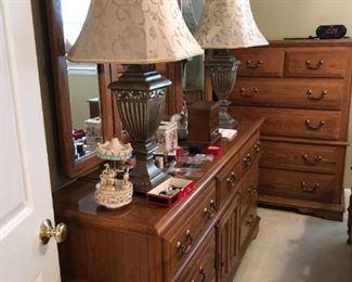 Solid wood Broyhill Queen bedroom set