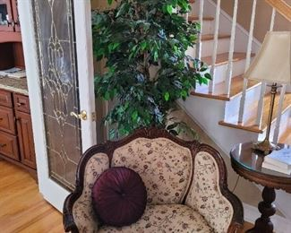 Artificial Tree, Antique Chair