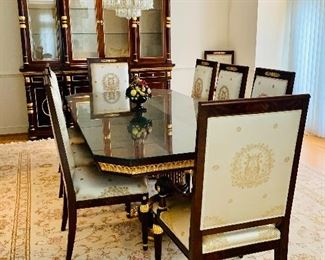Empire style Dining Room - Shown: Table, 10 chairs, buffet