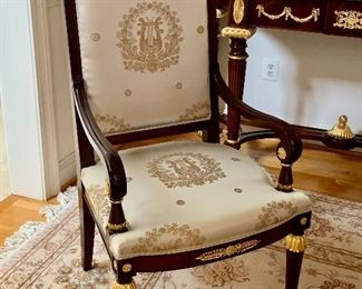 Detail; Empire style armchair