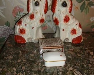 Staffordshire Chinese Export Dog Figurines