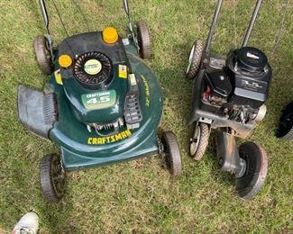 "Craftsman 22"" mower, 3.5 hp edger"