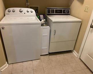 Whirlpool Washer & GE Dryer